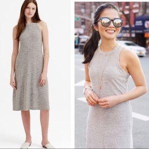 Lou & Grey midi dress w front seam